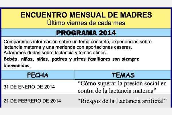 Actividades mensuales 2014