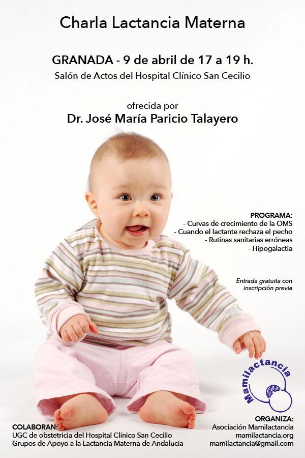9 abril: Charla lactancia materna – Dr. José María Paricio Talayero